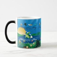 Hanauma Bay Hawaii Turtle Magic Mug - home gifts ideas decor special unique custom individual customized individualized