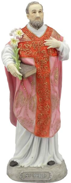 Saint Philip The Apostle  Religious Figurine Statue Sculpture-Home Décor-Decorations-Christian Related Gifts-Available for Sale at AllSculptures.com