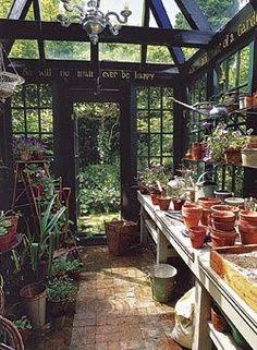 Inside a green house.