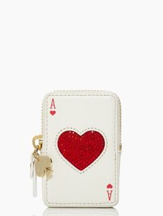 Kate Spade place your bets playing cards coin purse, the back is cool too!