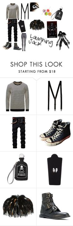 """""""Laughing Jack"""" by slendyschild4113 on Polyvore featuring Topman, Converse, Current Mood, Scarecrow, Topshop, Dolce&Gabbana, Sonia Rykiel and creepypasta"""