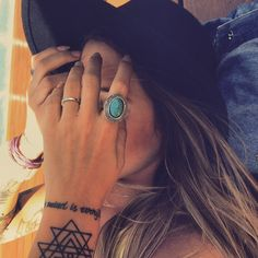 Tattoos and ring