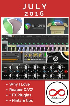 From the #Blog | Why I Love Reaper DAW | FX #plugins | A blog post about why it's my recording software of choice. I hope you learn to Love #Reaper as much as I do!
