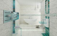 Aranżacja nowoczesnej łazienki z wanną - Kolekcja Laterizio / Lateriz Ceramika Paradyz