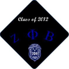 Greek Life Sorority Zeta Phi Beta  Want to know how you can decorate your cap? Professionally Printed Graduation Cap Decorations
