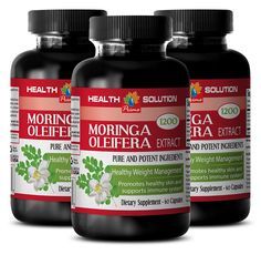 Moringa Organic Capsules - MORINGA OLEIFERA EXTRACT 1200 - Natural Skin Care Products 3 Bottles, 180 Capsules * You can find more details by visiting the image link. (This is an Amazon Affiliate link and I receive a commission for the sales)