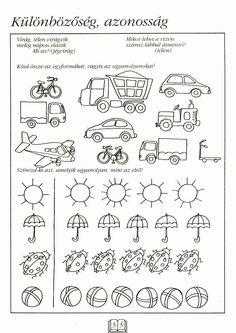 Albumarchívum Preschool Worksheets, Preschool Activities, Math For Kids, Kindergarten Math, Pre School, Special Education, Kids And Parenting, Clip Art, Album