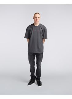 The Aurora TS is an oversized fit t-shirt with a small graphic on the front saying EDWIN in Japanese and a larger graphic on the back that translates to From Tokyo With Love. Item Number, Aurora, Larger, Tokyo, Normcore, Japanese, Fitness, Cotton, T Shirt