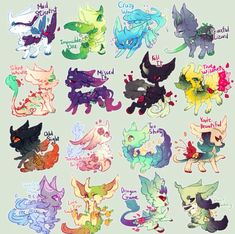 Winter magic and too shiny are mine, peaceful lizard, silent whistle, missed it, and odd sight adopted by funny panda whited Cute Fantasy Creatures, Mythical Creatures Art, Cute Creatures, Magical Creatures, Cute Animal Drawings Kawaii, Kawaii Drawings, Kawaii Art, Cute Drawings, Anime Animals