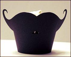 mustache cupcake wrap...hehehe