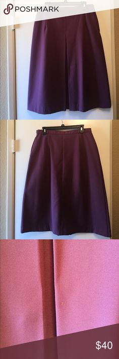 Vintage Mauve A-Line Dart Front Midi Skirt This skirt is great! Retro/vintage A line skirt will draw tons of attention... Beautiful mauve/mulberry color looks classy and refined! Small unnoticeable stain on the front of the skirt toward the bottom, just wanted to mention it, however it does not take away from how gorgeous this skirt is! Vintage clothing runs smaller (label says 18), but this fits like a 10/12 Skirts A-Line or Full