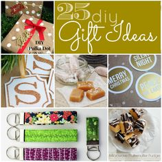Great Ideas -- 25 DIY Gift Ideas! Tatertots and Jello #Christmas #DIY #giftideas
