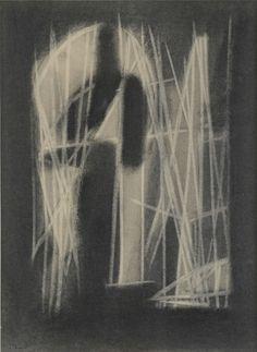 Nicolas de Staël, Composition, 1944 Fusain gommé sur papier 31 × 23 cm