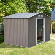 Outsunny 9u0027X6u0027 Garden Storage Steel Shed Garage Utility Tool Building Outdoor #Outsunny & Yardmaster Metal Garden Storage Unit. From the Official Argos Shop ...