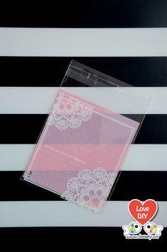 Self Seal Party Favor Bag, Cookie Gift Bag, Gift Bag, Candy Bag, Wedding Favor Bag by LoveDIYdotca @ Etsy, $2.49