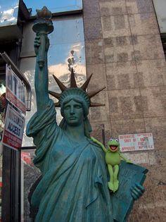 Kermit in New York City