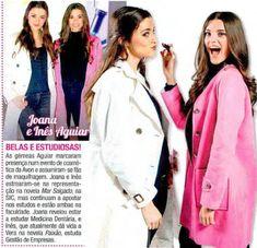 As gémeas Joana e Inês Aguiar no envento de laçamento dos batons Epic da AVON na revista Ana