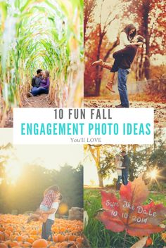 10 Fun Fall Engagement Photo Ideas You'll Love!! http://www.weddingphotousa.com/10-fun-fall-engagement-photo-ideas-youll-love/
