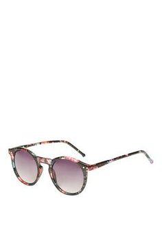 Lila Floral Round Sunglasses
