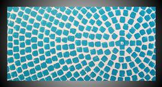 Turquoise Squares Painting ORIGINAL Abstract by acrylkreativ
