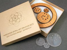 Hardwood Spiral Art Drawing Tool for Drafting Rosettes and Borders& other Decorations