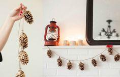 DIY | Dennenappel slinger | decoratief | how to | recycle | tips | creatief