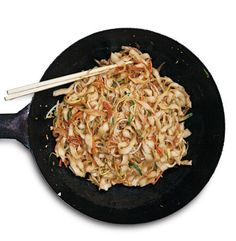 Stir fried noodles- fresh and so much less greasy than restaurant versions. Of course, like all Asian cooking, amounts are not exact and just season to taste. Make sure the pan is hot hot hot!