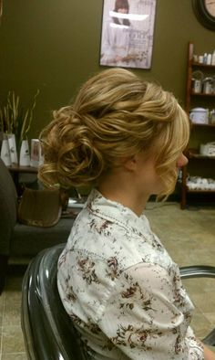 loose curly, wedding updo, bride hairstyle