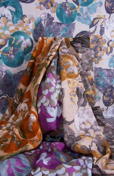 Floral pattern textile from Jim Thompson. #textile #interiordesign #floral