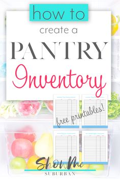 Upgrade your household management game with these cute, printable kitchen inventory sheets!