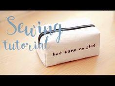 D.I.Y square purse. Квадратная косметичка, простой способ! - YouTube