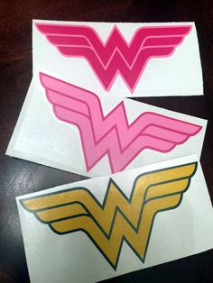 Wonder Woman Vinyl Decal/Bumper Sticker - Many Sizes & Colors! Insulated Tumblers, Bumper Stickers, Vinyl Decals, Wonder Woman, Unique Jewelry, Handmade Gifts, Pink Light, Vintage, Etsy