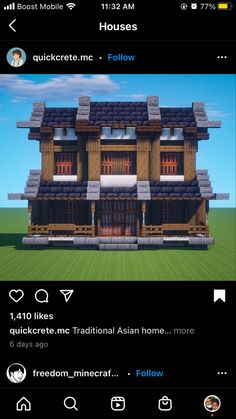 Minecraft Japanese House, Minecraft House Plans, Minecraft Cottage, Easy Minecraft Houses, Minecraft Medieval, Minecraft House Designs, Minecraft Decorations, Amazing Minecraft, Minecraft Tips