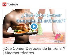 Nuevo vídeo en el canal de YouTube Tuestilofitness  Qué comer después de entrenar? Espero que os sea útil si es así se agradece un LIKE  un saludo familia