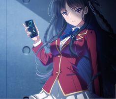 Classroom Of Elite Anime, Classroom Of Elite Wallpaper, Classroom Of Elite Ayanokoji # ayanokoji Anime Girl Black Hair, Cool Anime Girl, Anime School Girl, Girls Anime, Kawaii Anime Girl, Anime Art Girl, Kawaii Art, Manga Girl, Manga Anime