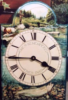 Commissioned fisher mans clock. Hand painted. Glyn Overton. SOLD.