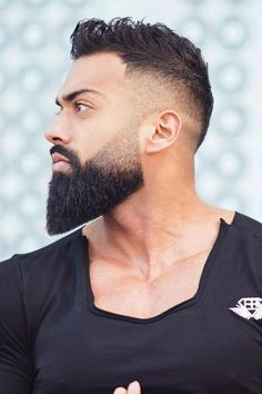 Complete Guide To The World Of The Best Beard Styles Trimmed Beard ★ The best long full and short trimmed fade beard styles for men. Learn all the best mens beard shape options including Arab and black men. Trimmed Beard Styles, Faded Beard Styles, Long Beard Styles, Beard Styles For Men, Black Man Beard Styles, Hair And Beard Styles, Viking Beard Styles, Hair Styles, Beard Fade