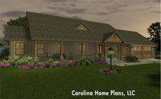 Craftsman style house plan, comfortable 1-level living.