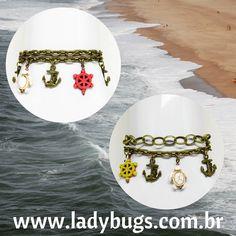 ☀Olha que graça! ☀ 🐚Pulseiras Mar – duas opções por R$ 29,90 cada. 💕 Disponíveis no site 👉www.ladybugs.com.br🐞  #acessóriosfemininos #acessóriosmasculinos #acessorios #bijuteria #bijuterias #bijoux #visitenossaloja #bijuteriaonline #novidades #trendalert #moda #tendencia #lojavirtual #lojaonline #look #instamoda #caraguatatuba #jundiai #saopaulo #brasil #pulseira #pulseirismo #pulseirafeminina #âncora #ancora #mar #praia #ourovelho #anonovo #verão