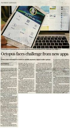 South China Morning Post: Octopus faces challenge from new apps  #TNG發佈會 #TNGWallet #tngsimplifyyourlife #Payments #FinTech #eWallet