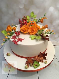 Autumn flowers by Elaine - Ginger Cat Cakery