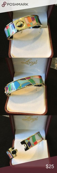 Faux Hermes bracelet This colorful bangle is a Hermes knockoff.  A beautiful way to dress up a summer outfit.  Never worn.  In original packaging. Jewelry Bracelets