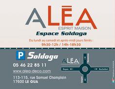 Création du site Internet du centre commercial dédié à la maison ALEA en Charente-Maritime.