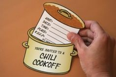 Cute Chili Cookoff invitation