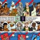 Realistic drawings - profiles, stamps, portraits Chief Powhatan, Pocahontas, Benjamin Franklin, Betsy Ross, George Washington Carver, Eleanor Roosevelt