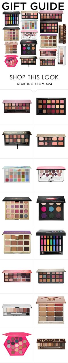 """""""Gift Guide: Eye Shadow Palettes from Sephora."""" by downeastgirl88 ❤ liked on Polyvore featuring beauty, Anastasia Beverly Hills, Huda Beauty, Sephora Collection, Clinique, tarte, MAKE UP FOR EVER, Urban Decay, Too Faced Cosmetics and Stila"""