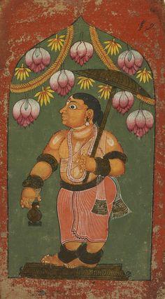 Vamana avatara, dwarf avatara of Vishnu, south indian painting