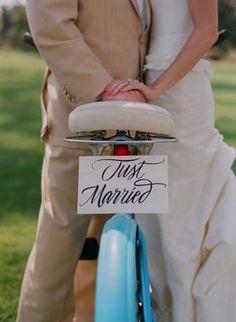 wedding photos bike just married - Sök på Google
