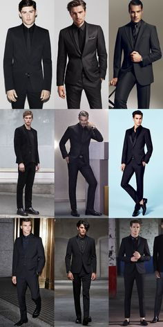 The Black Suit : All-Black Lookbook Inspiration