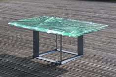 Glass Art Coffee Table by Archiglass Emerald Hills